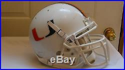 Vintage 1980's, Miami Hurricanes, Authentic Schutt Air Football Helmet, Sz Lg