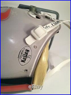 Vintage 1982 Jim Kelly Miami Hurricanes Kelly 100 Mh Football Helmet Sz 7 1/4