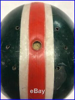 Vintage 60s 70s Football Helmet Miami Hurricanes Color Scheme No Face Mask/chin