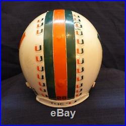 Vintage Miami Hurricanes Full Size Riddell Vsr, Custom Game Used Helmet