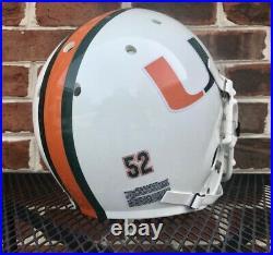 Vintage Ray Lewis Miami Hurricanes Schutt Pro Air II Authentic Football Helmet
