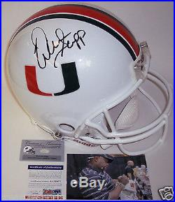 Warren Sapp Hand Signed Miami Hurricanes Authentic Pro Full Size Helmet Psa/dna
