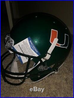Warren Sap Signed Full Size Miami Helmet All About The U inscription! Certif