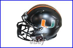 Warren Sapp Autographed Miami Hurricanes Riddell Limited Collection Blackout Pro