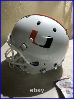 Warren Sapp Autographed Schutt Rep Miami Hurricanes Full Size Helmet Jsa