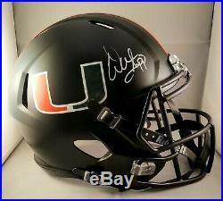 Warren Sapp Autographed Signed Full Size Helmet Miami Hurricanes JSA