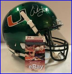 Warren Sapp Autographed Signed Miami Hurricanes Full Size Helmet Jsa Coa