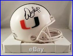 Warren Sapp Autographed Signed Mini Helmet Miami Hurricanes JSA