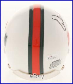Warren Sapp Signed Miami Hurricanes Mini Helmet Inscribed 94 Lombardi JSA COA