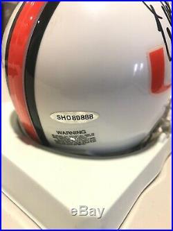 Warren Sapp Signed Miami Hurricanes Mini Helmet Upperdeck