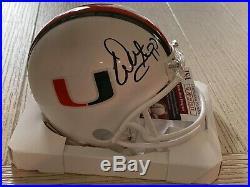 Warren Sapp autographed signed mini helmet NCAA Miami Hurricanes JSA with COA