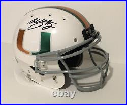 Willis McGahee Signed Miami Hurricanes Authentic Fullsize OnField Helmet JSA COA
