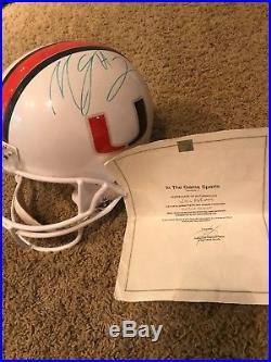 Willis McGahee signed Miami Hurricanes Helmet with Authentication