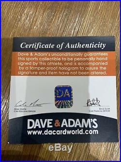 Willis Mcgahee Miami Ravens Hit Parade Signed Mini Helmet Dave & Adams Coa